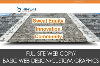FULL SITE WEB COPY/BASIC WEB DESIGN/CUSTOM GRAPHICS