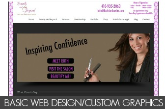 BASIC WEB DESIGN/CUSTOM GRAPHICS