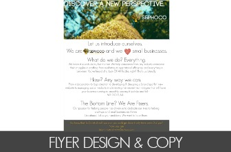 FLYER DESIGN & COPY