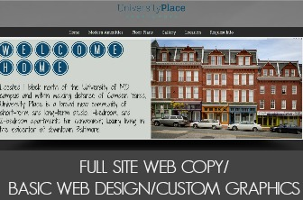 Full Site Web Copy/Web Design/Custom Graphics